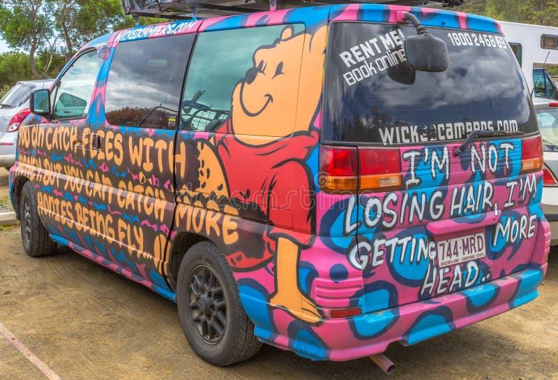 Hippy Van Winnie De Pooh fotografia stock libera da diritti