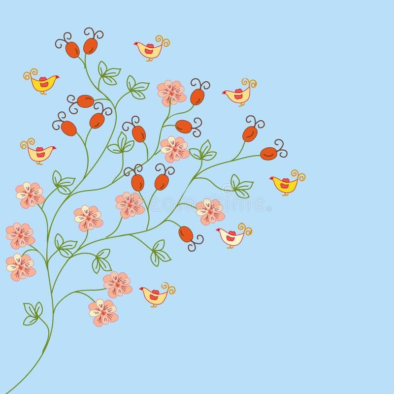 Download Hips flower background stock vector. Illustration of natural - 12423955