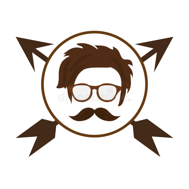 hipster βέλη προσώπου ελεύθερη απεικόνιση δικαιώματος