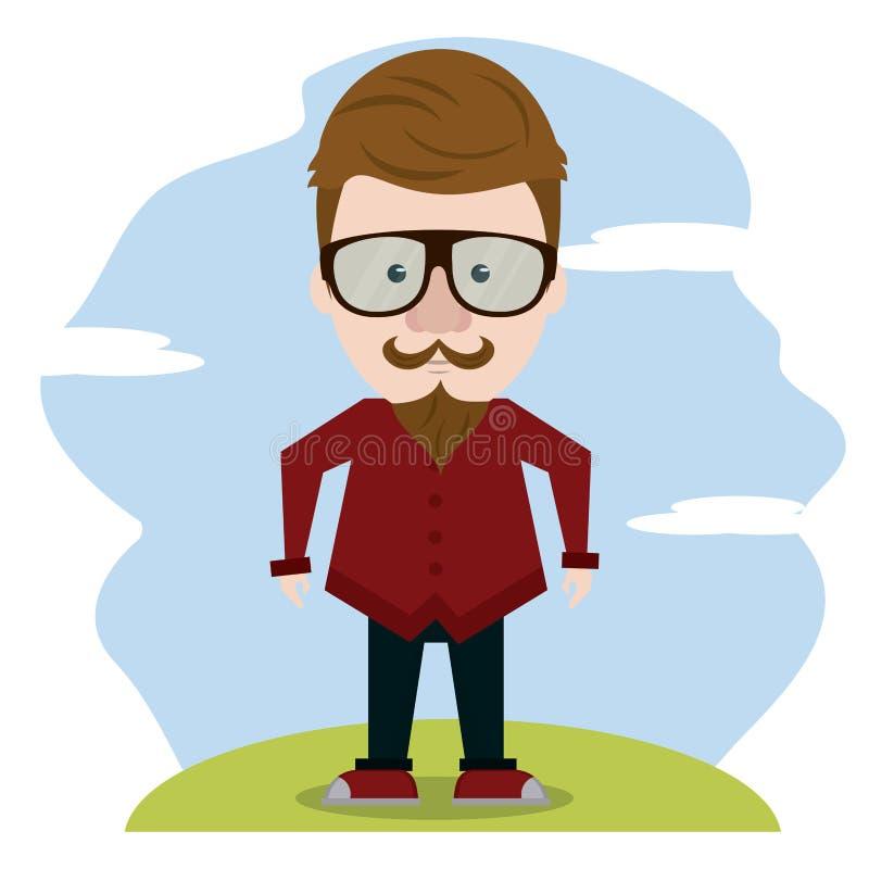Hipster πέρα από το τοπίο ελεύθερη απεικόνιση δικαιώματος