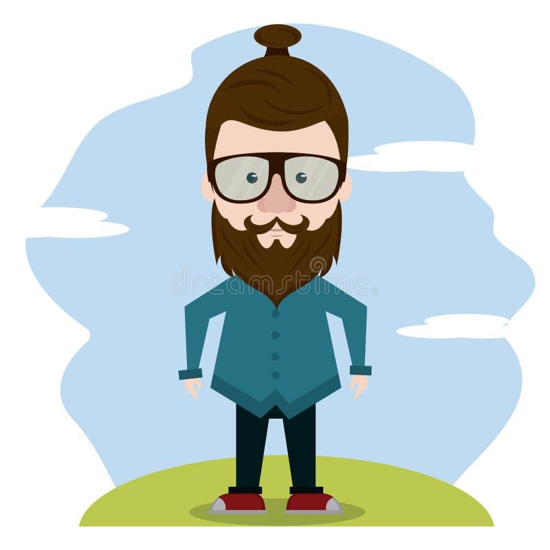Hipster πέρα από το τοπίο απεικόνιση αποθεμάτων
