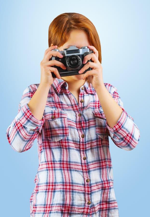 Hipster που παίρνει τη φωτογραφία στοκ εικόνα με δικαίωμα ελεύθερης χρήσης
