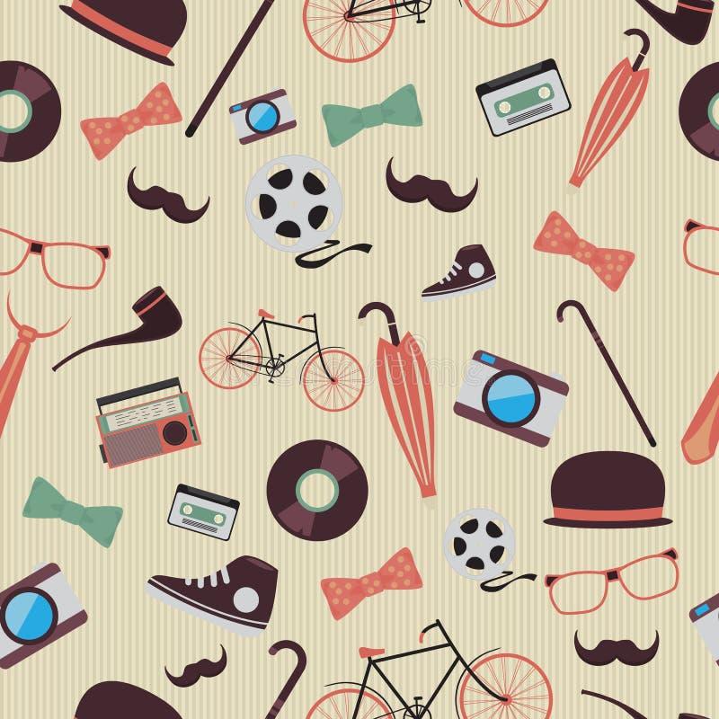 Hipster stock illustratie