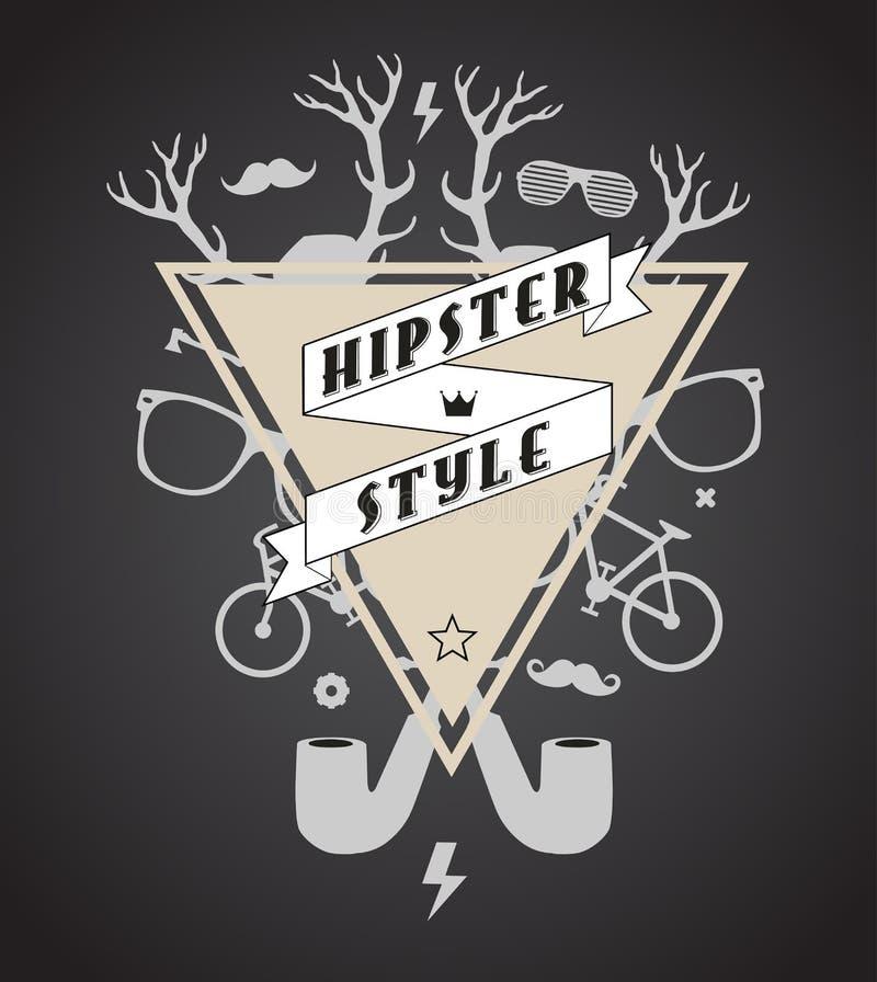 Hipster abstracte illustratie stock illustratie
