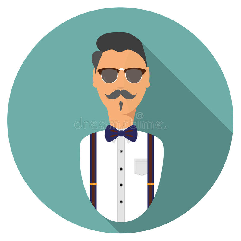 Hipster avatar icon . modern flat style stock photos