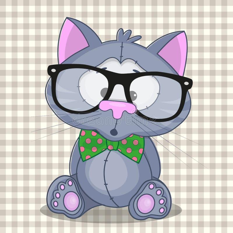 Hipster Cat royalty free illustration