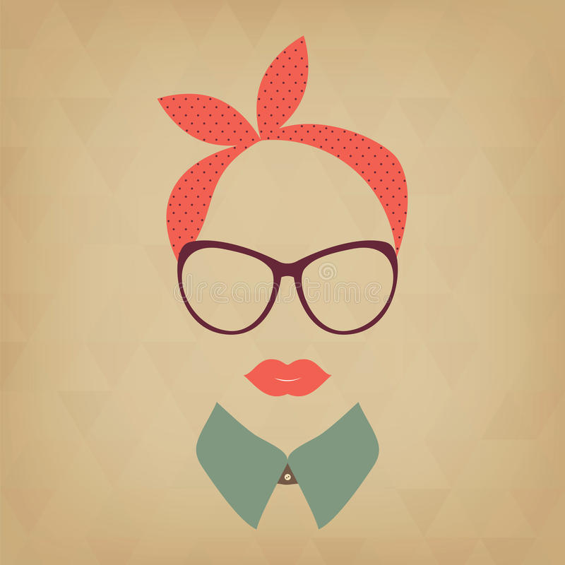 Hipster   dame royalty-vrije illustratie