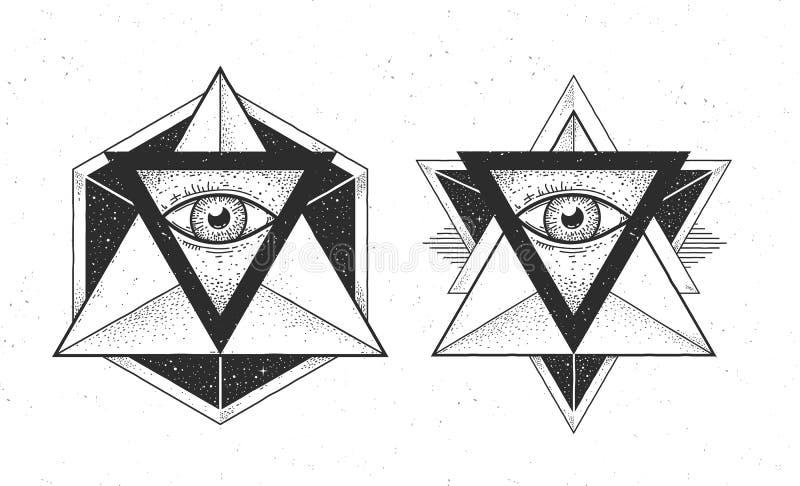 Hipster Design Elements stock illustration