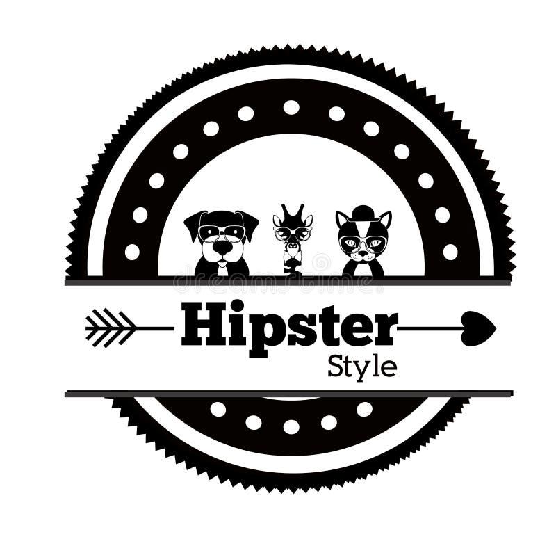 Hipster dierlijk ontwerp, illustratie stock illustratie