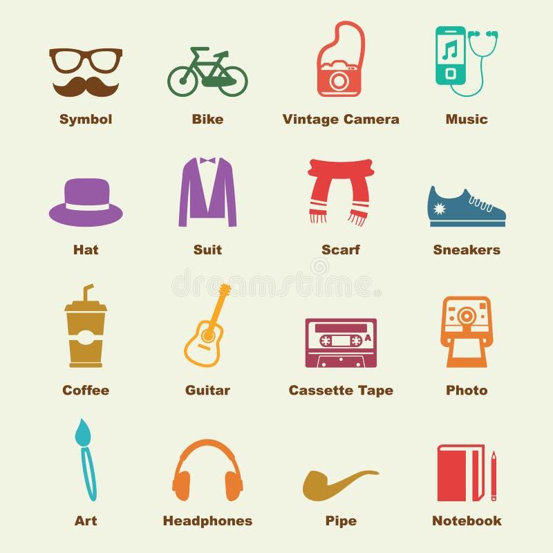 Hipster elements vector illustration