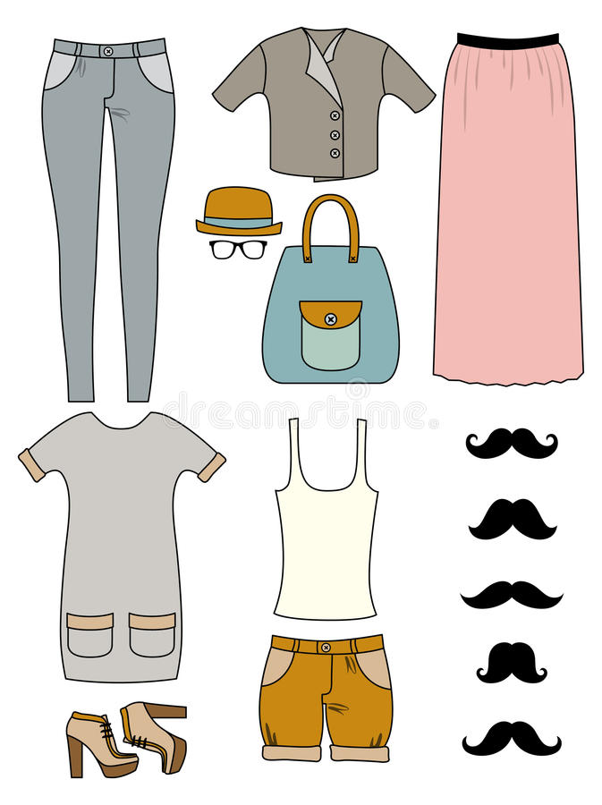 Download Hipster fashion stock illustration. Image of boots, girl - 26339131