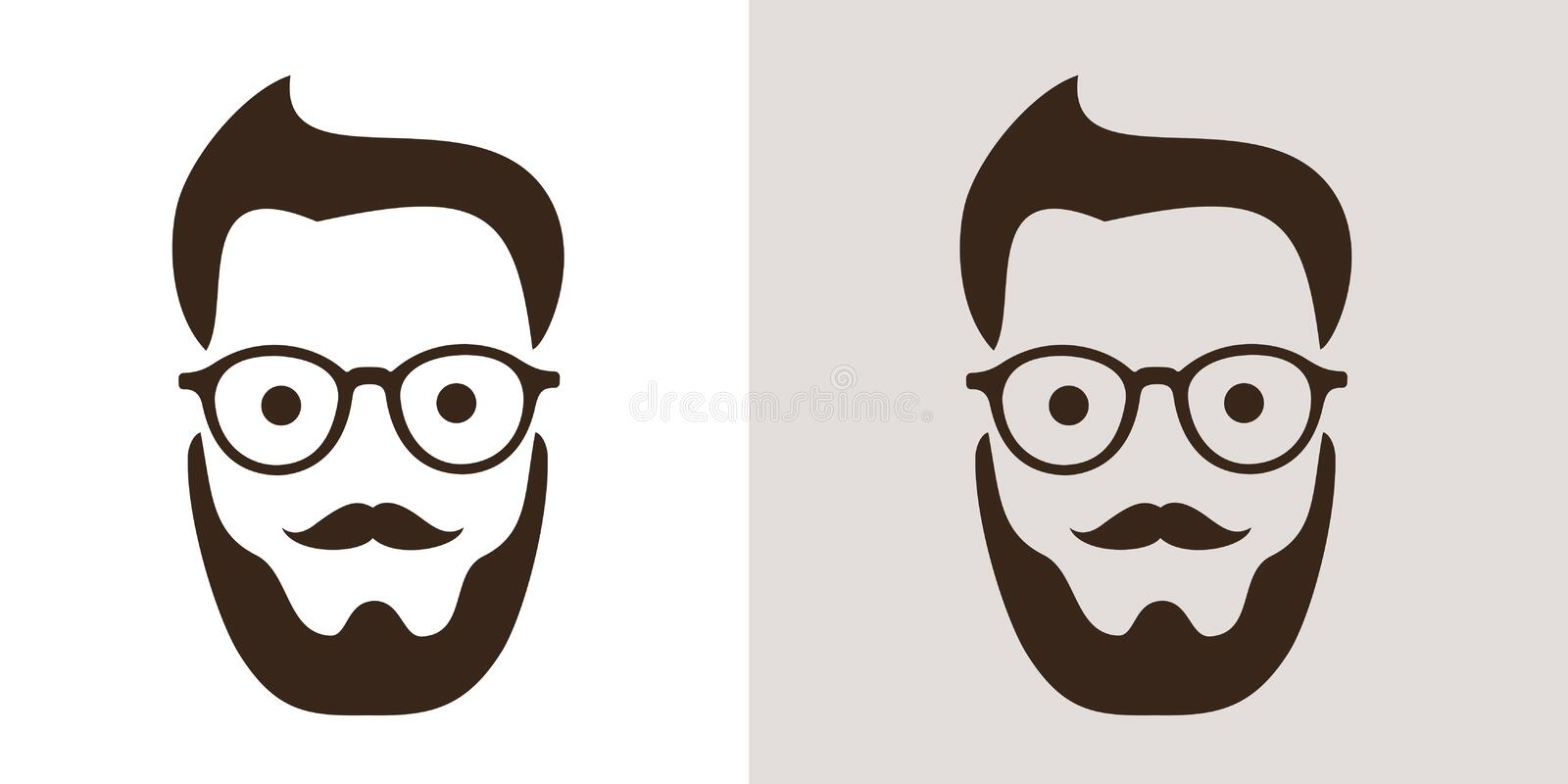 Hipster fashion - man with retro vintage glasses and stylish haircut. Style and cool look of hipster generation and subculture. Vector illustration royalty free illustration
