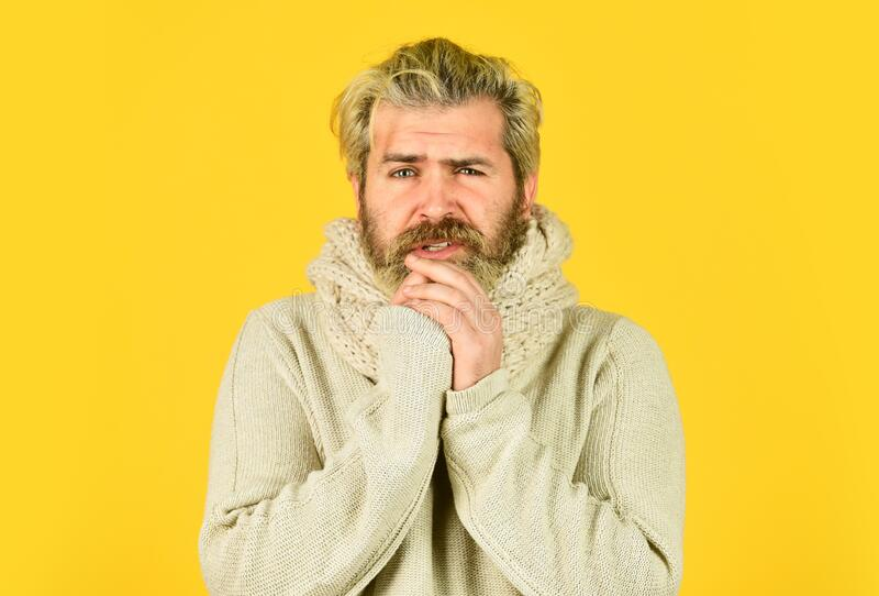 Hipster fever. Cold flu fever concept. More than just symptom of illness. Regulate immune system. Body temperature. Fever and thermal regulation of immunity stock photography