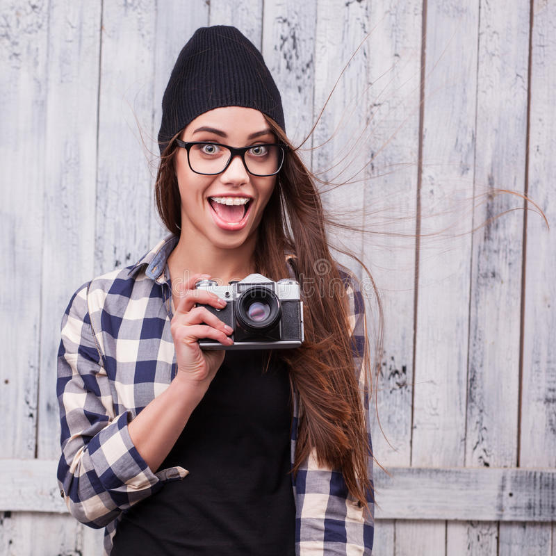 Girl with beanie and glasses porn