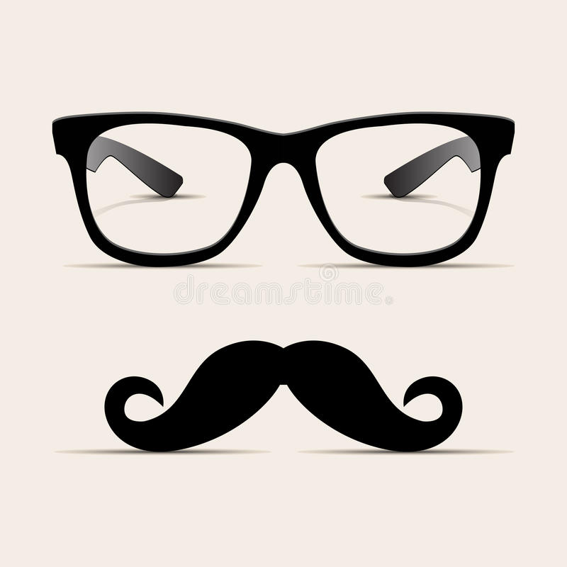 Free Hipster Glasses, Hipsta Man. Vector Royalty Free Stock Image - 26405176