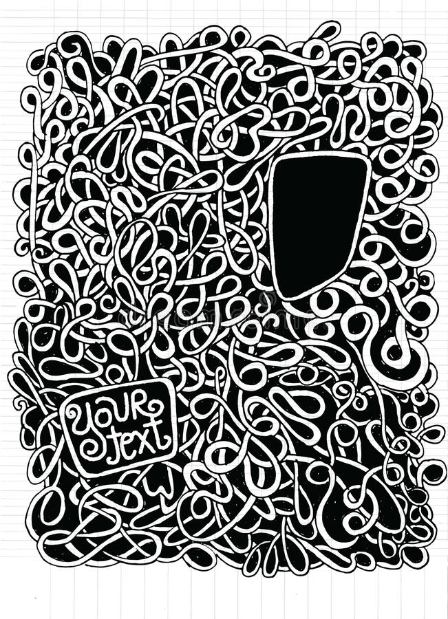 Hipster Hand drawn Vector pattern. Abstract background with line stock illustration