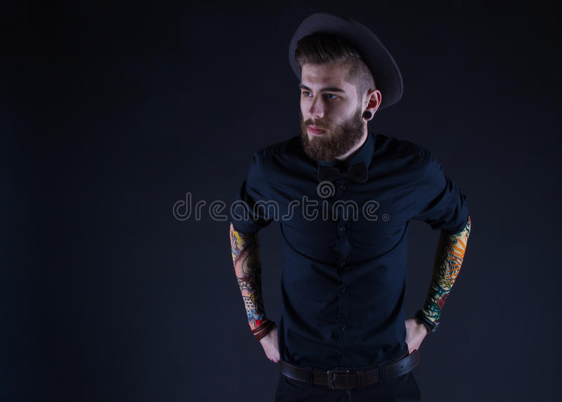 Hipster in Hat royalty free stock image