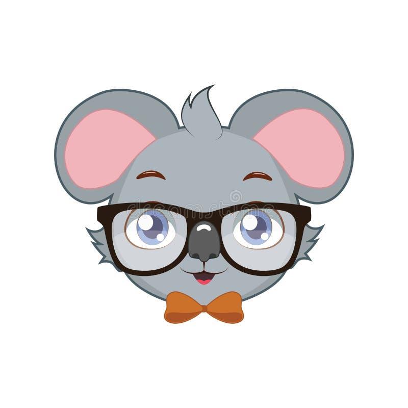 Hipster Koala stock illustration