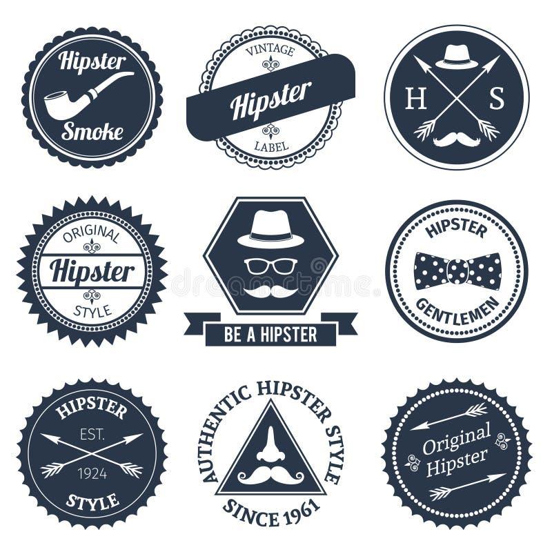 Hipster labels set royalty free illustration