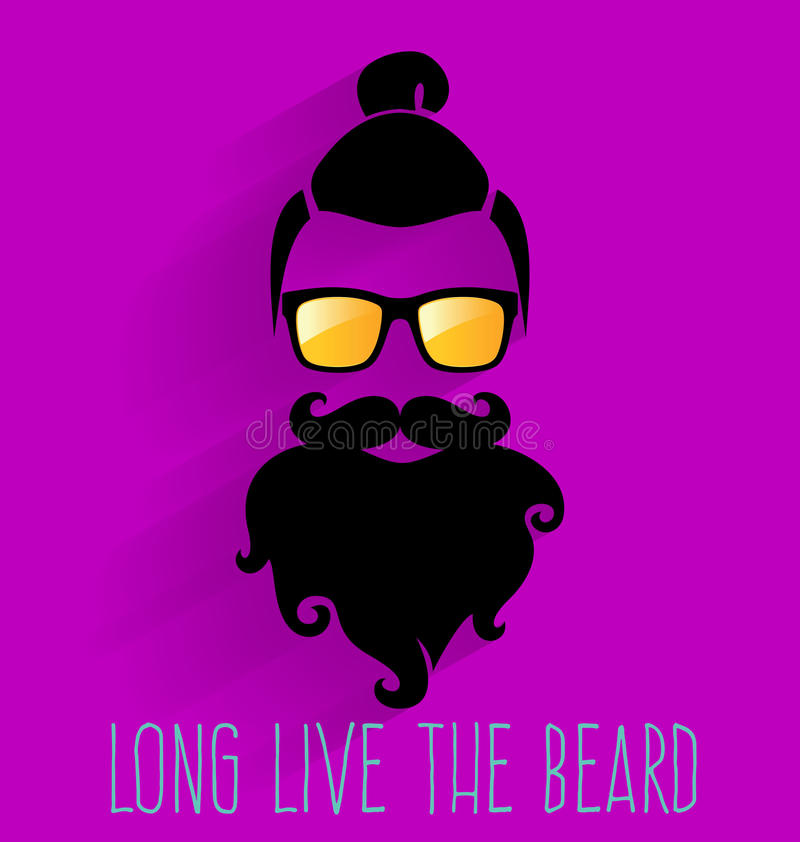 hipster Live The Beard lungo royalty illustrazione gratis