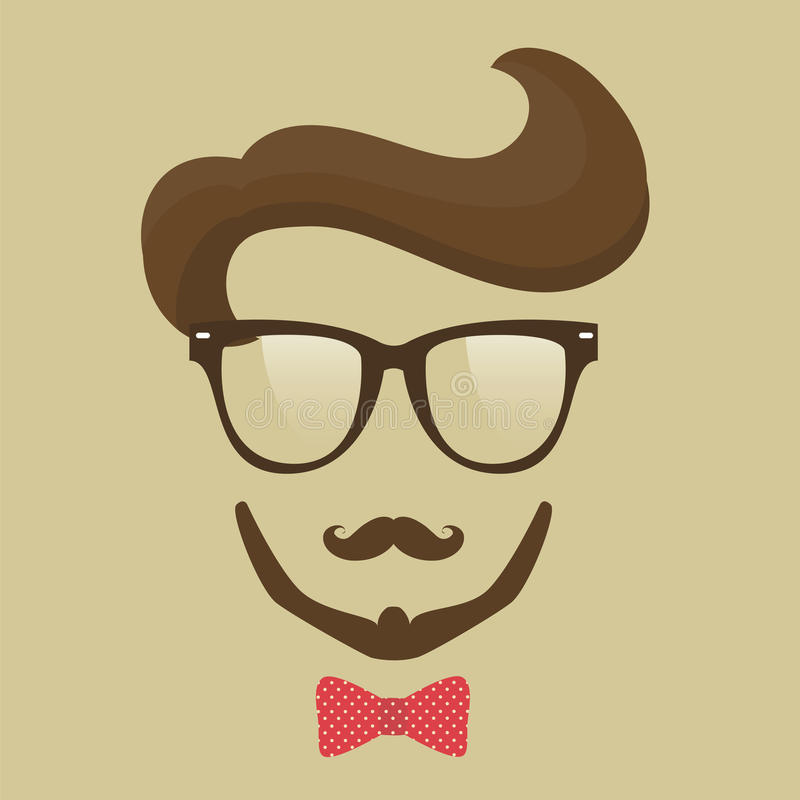 Download Hipster  man stock vector. Image of people, hair, elements - 41756736