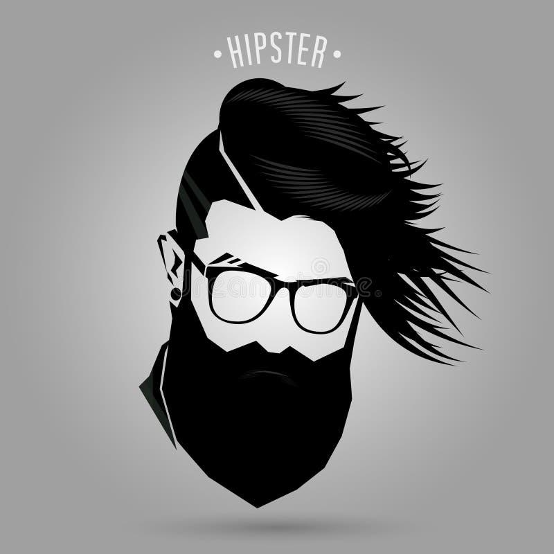 Hipster men fashion sign royalty free illustration