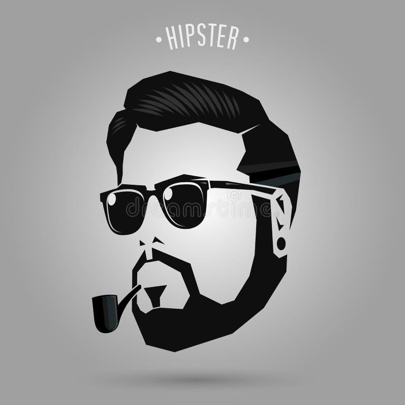 Hipster men pipe stock illustration