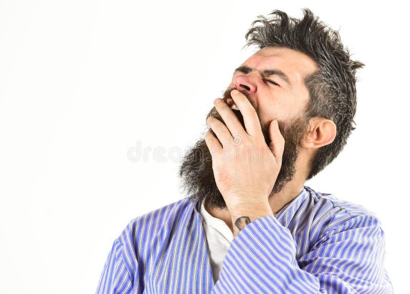 Hipster met baard en snor met slordig haar stock afbeelding