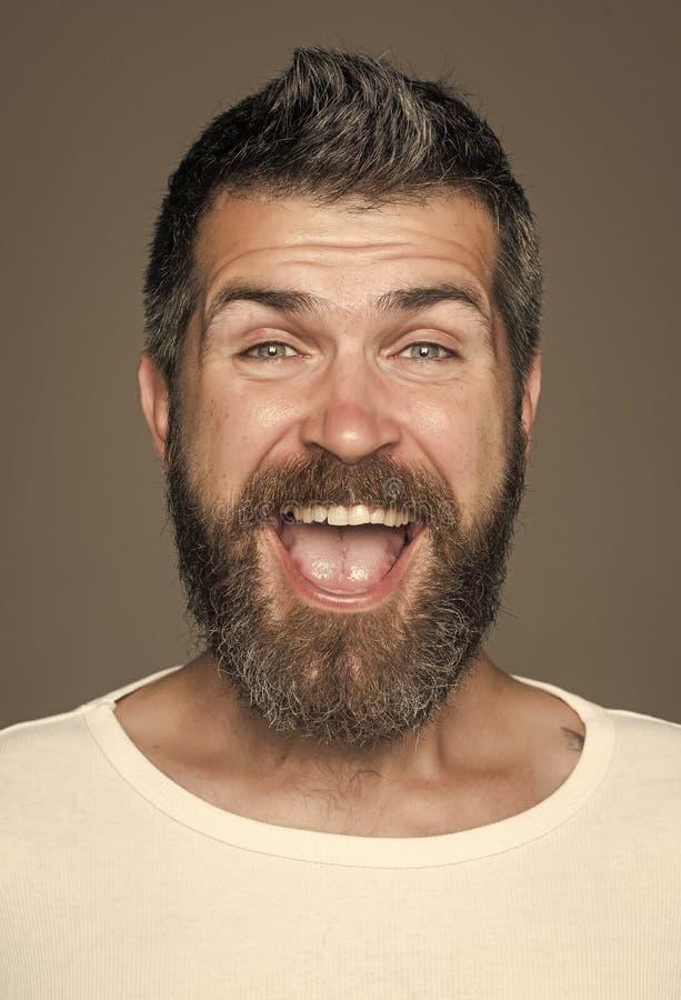 Hipster met gelukkig gezicht royalty-vrije stock afbeeldingen