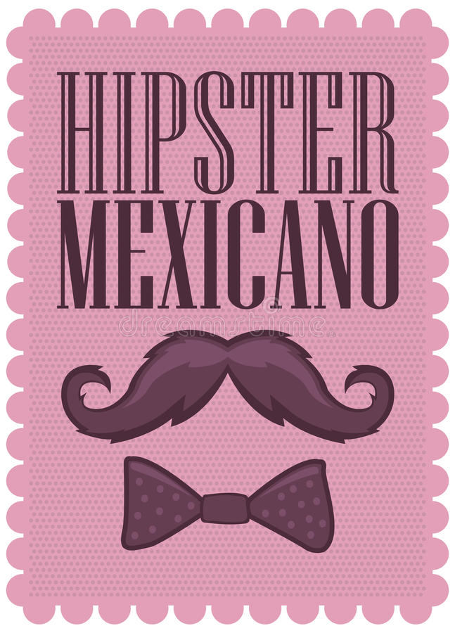 Hipster Mexicano - Mexican Hipster spanish text -