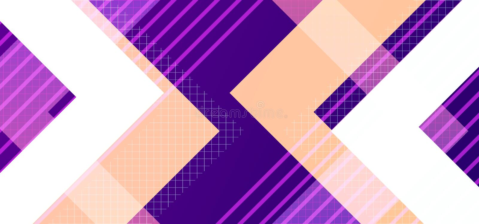 Hipster modern geometric abstract background. Purple, yellow, and pink stripes, textured background. Business template for a vector illustration