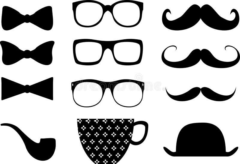 Hipster moustache style elemments se2 royalty free illustration
