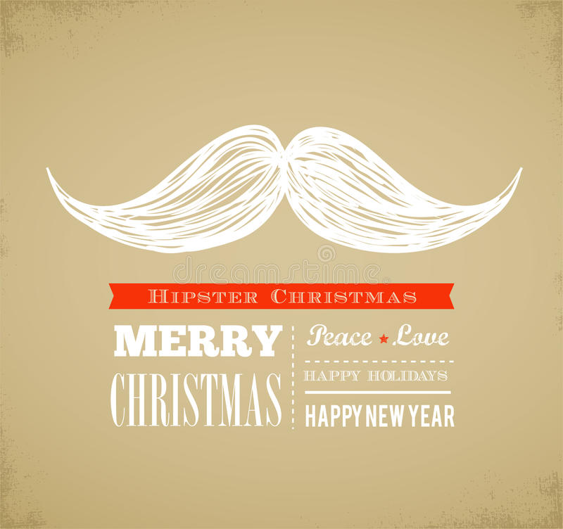 Hipster New Year And Merry Christmas Royalty Free Stock Images