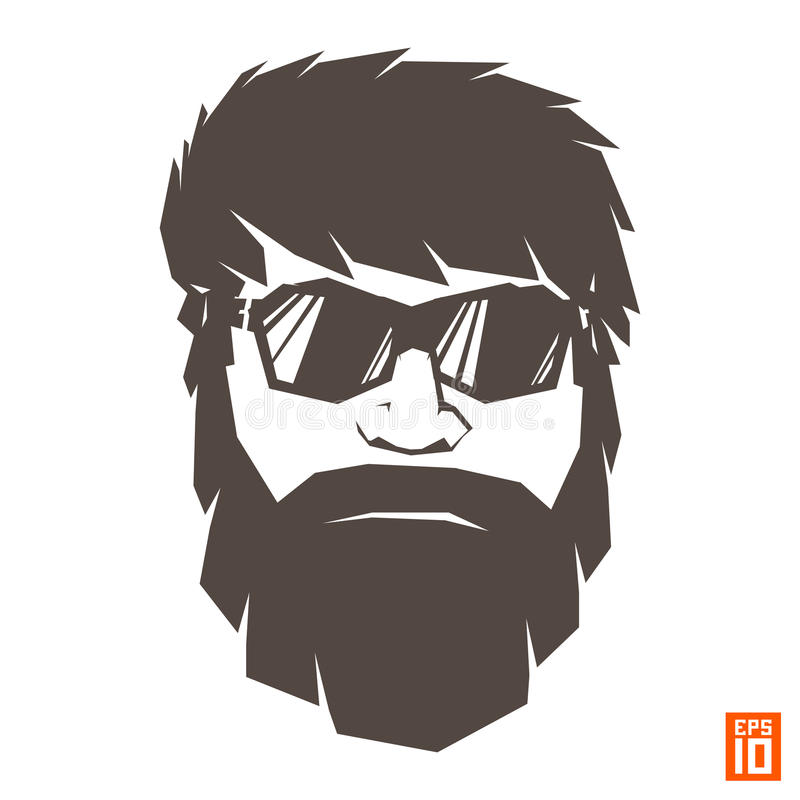 Download Hipster One Color Stock Vector Illustration Of Glasses