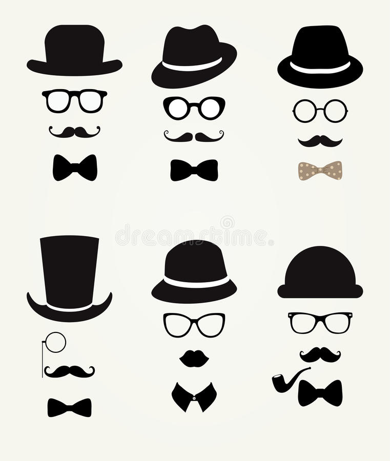 Hipster Retro Vintage Icon Set vector illustration