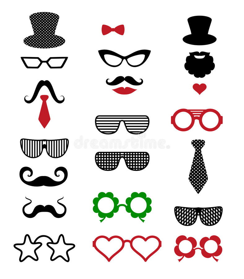 Hipster retro vintage icon set. Vector background royalty free illustration