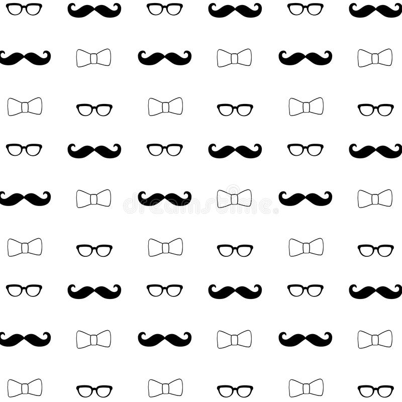 Hipster Seamless Decorative Pattern Background stock photos