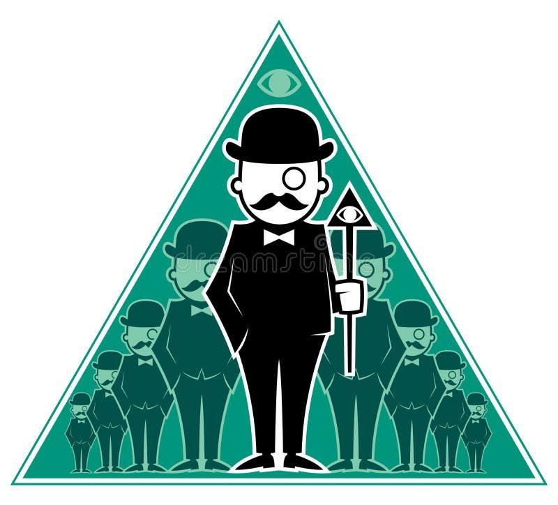 Hipster Secret Society vector illustration
