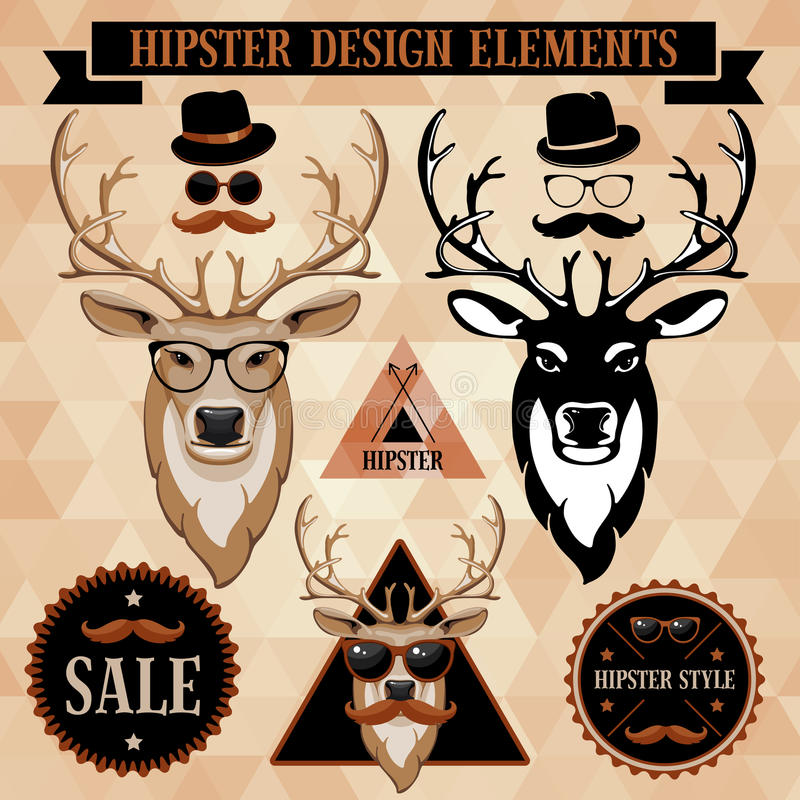 Download Hipster set stock vector. Image of accessory, animal - 34223229