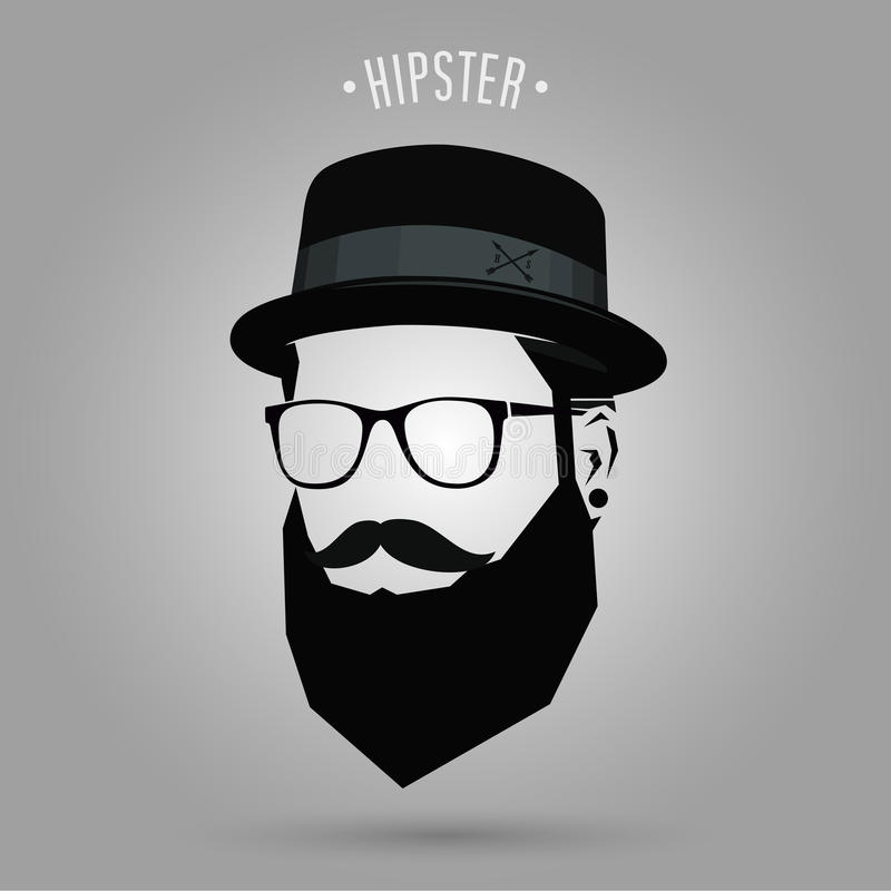 Hipster sign hat vector illustration