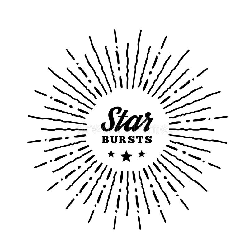 Hipster Style Vintage Star Burst With Ray Stock Vector ...