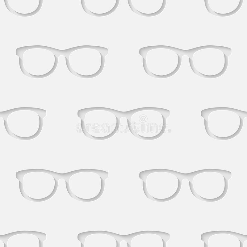 Hipster sunglasses seamless pattern vector illustration