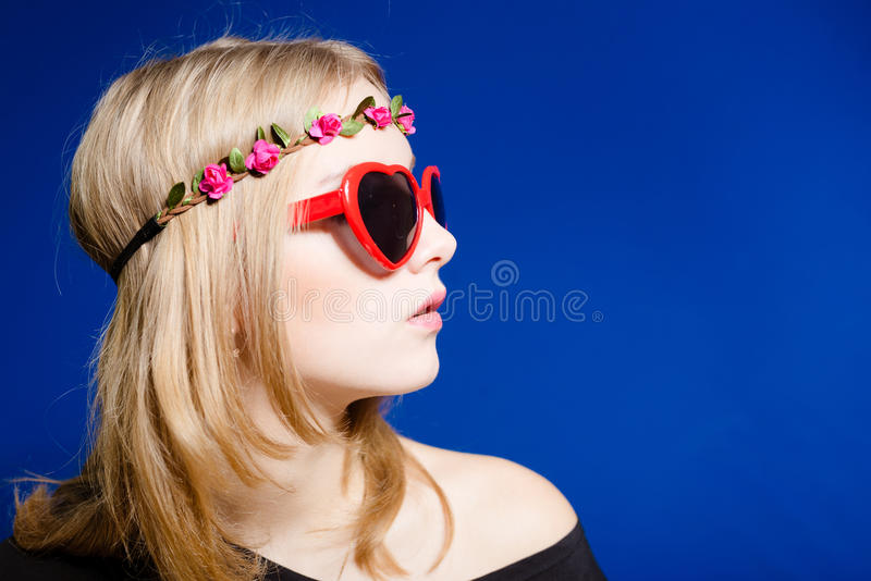 Hipster teenager girl stock photo