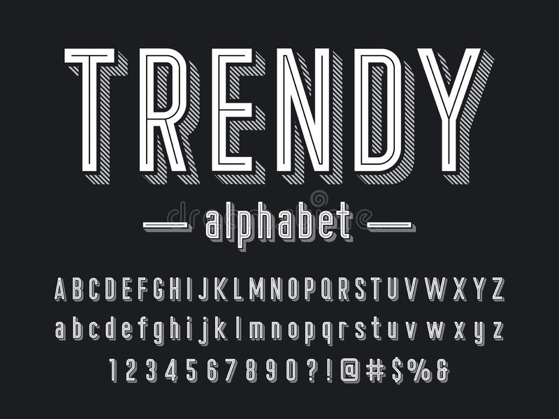 Trendy font royalty free illustration
