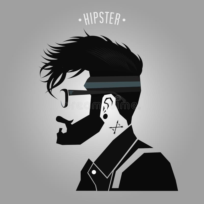 Hipster under cut stock illustration