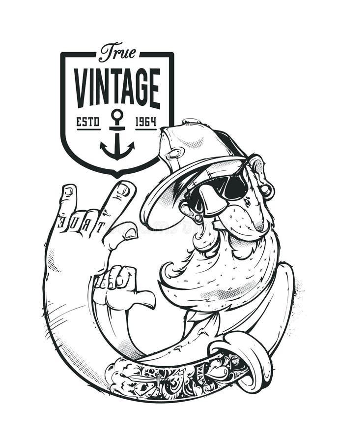 Hipster Vector Art stock illustration