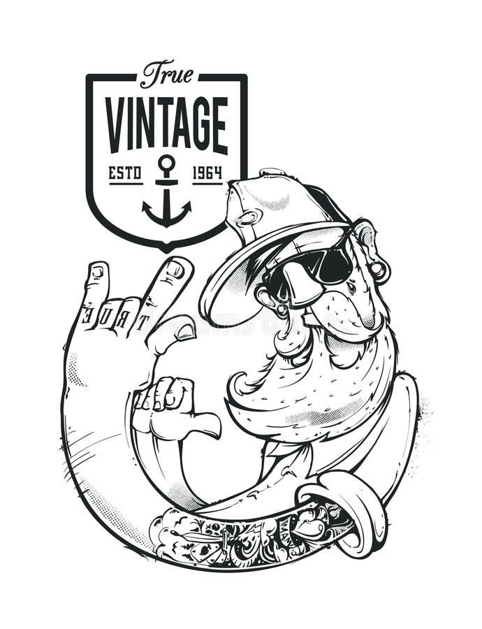 Hipster Vectorart. stock illustratie