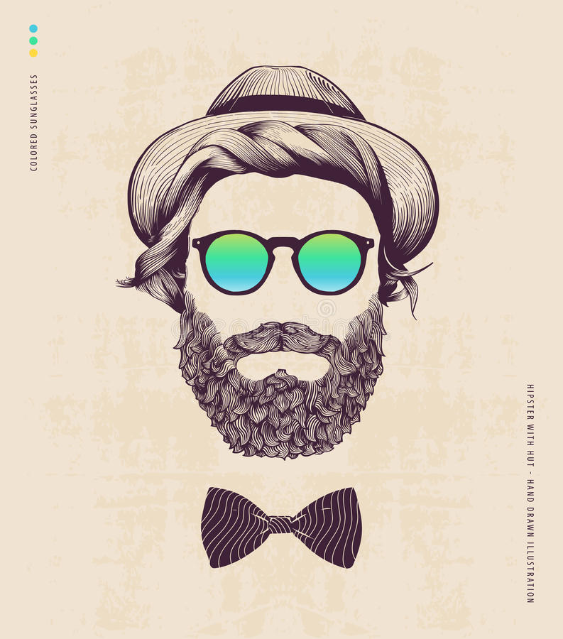 Free Hipster With Hat Stock Image - 55478991