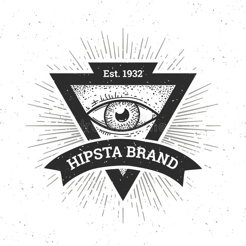 Hipsterbanner vector illustratie