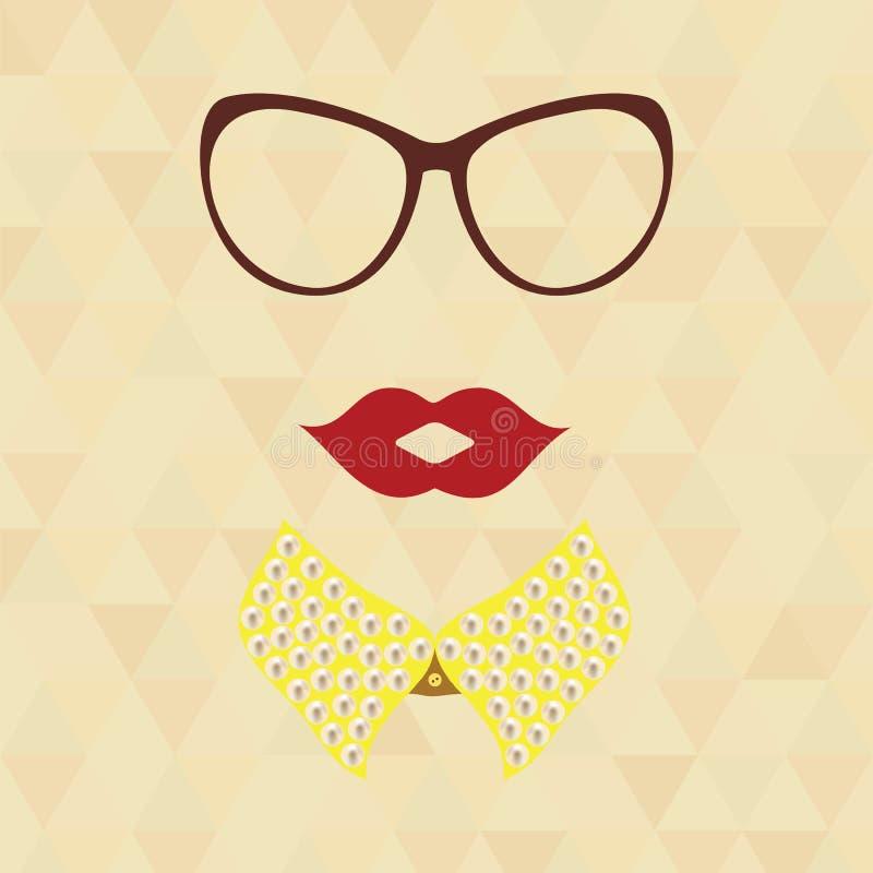 Hipsterdame stock illustratie